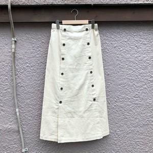 コーデュロイペンシルロングスカート カラー: White