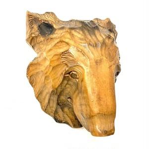 木彫りの壁掛けくま (SA144)