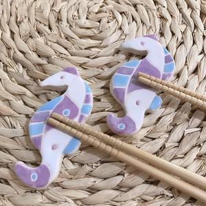 スペインタイル ペア箸置き タツノオトシゴ