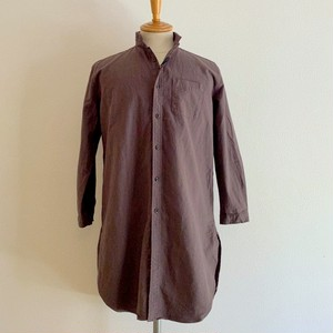 Linen Blended Cotton Rome Shirt Coat Mocha