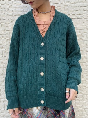 (TOYO) volume knit cardigan