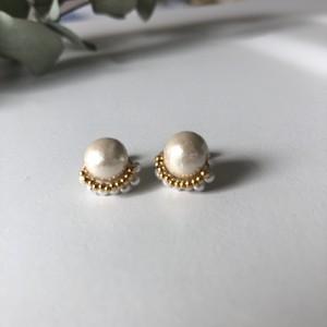 cotton pearl frill pierce