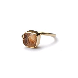 ROUGH STONE RING GOLD 028