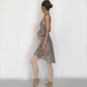 "◇""Tatiana"" Ballet Wrap Skirt - Python (Gray) [Sheer]( パイソン(グレー)[シアー])"