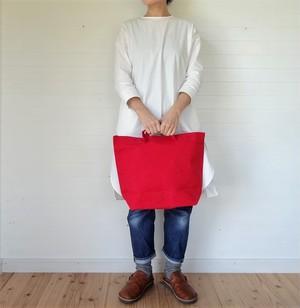 トートバッグ 帆布 L 赤