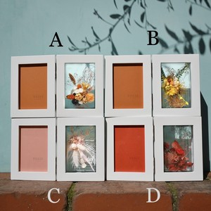 clear preserved flower photo frame A.B.C.D