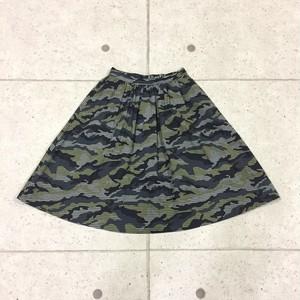 khaju カモフラ×チェック柄 スカート