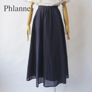 Phlannel/フランネル・Cotton Linen Voile Maxi Skirt
