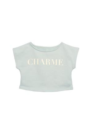 CHARME rogo short tee(mint)