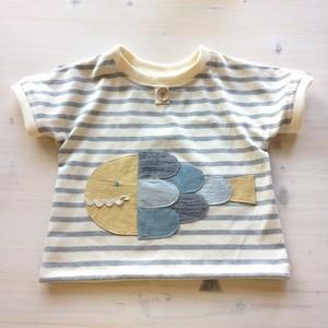 おさかなボーダーTシャツ(size80)