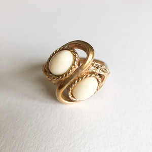 """Sarah Coventry"" Satin Sand ring #13[r-153] ヴィンテージリング"