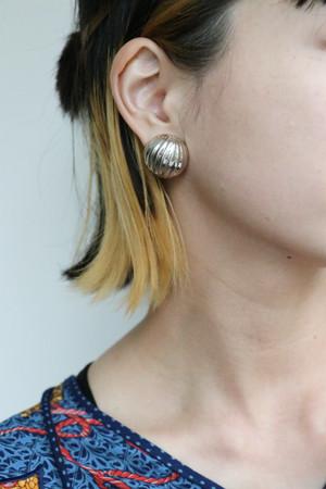 silver round earrings