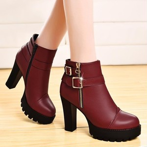 【shoes】ファッション気質抜群イングランド風ジッパーブーツ 23462527