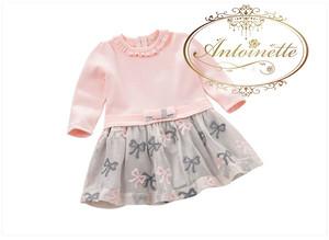 日本未上陸 海外ハイブランド 高級ブランド davebella kids onr pice ワンピ ワンピース インポート pink ピンク ベロア リボン