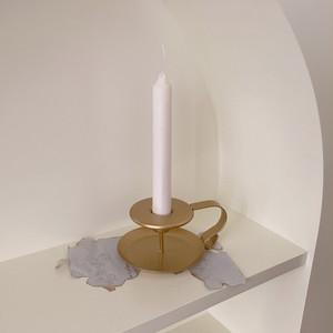 gold handle candle holder / ヴィンテージ アンティーク調 ゴールド ブラス ハンドル テーパー キャンドル ホルダー スタンド 韓国 北欧 雑貨
