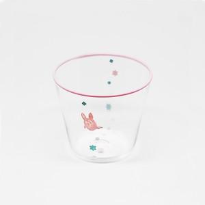 《受注販売》うさおばけ-グラス(ピンク)
