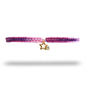 【無料ギフト包装/送料無料/限定】K18 Gold Indian Stella Anklet PinkPurple【品番 20S2004】