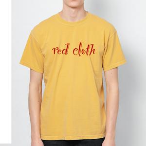 red clothロゴ & バックワンポイント / マスタード