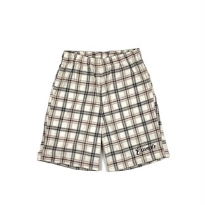 TARTAN CHECK SHORT PANTS (JAPAN MADE) / BEIGE x WHITE