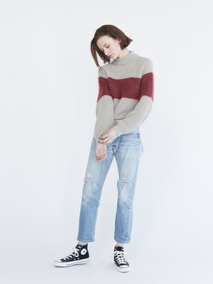 Sieste Peau MOHAIR TWO-TONE KNIT