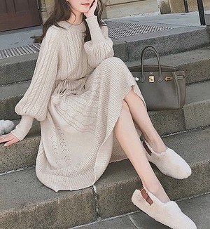 knit dress 3color
