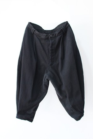 "【VITAL】Sumi Dyed "" Sashiko"" Tuck Volume Pants (black)"