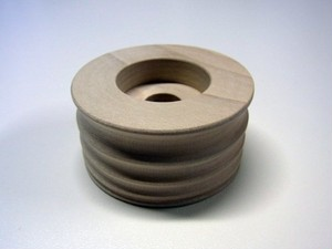 """コバ磨き用 木バフ 穴径:1/2""""(12.7mm)"""