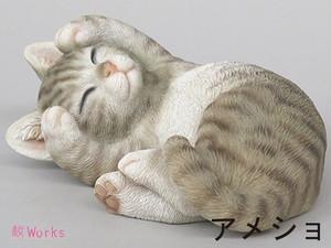 置き物 オブジェ ねこ ネコ 猫 甘えん坊 アメショ おしゃれ 雑貨