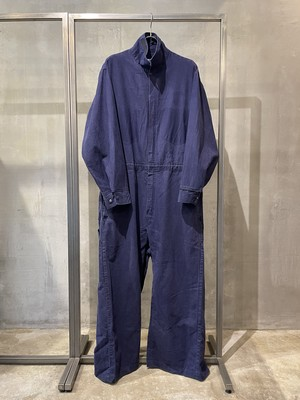 TrAnsference maxi coat from jumpsuit - navy / garment dyed effect