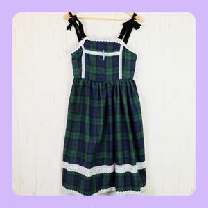SALE★【 サンプル品】チェック柄のジャンパースカート
