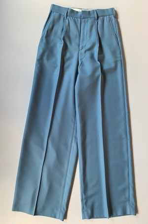 DAIRIKU Wool Wide Slacks Teal Blue