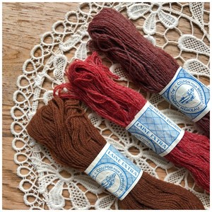 糸 ウール オータムカラー 3色セット デッドストック メルスリー