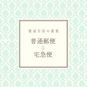 発送方法の変更(普通郵便→宅急便)