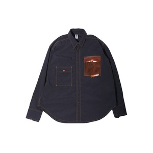 CLEAR POCKET SHIRT / BLACK