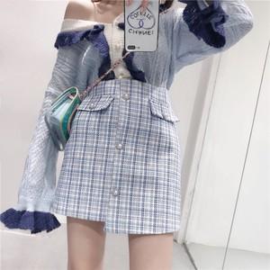 ♡チェックツイードスカート