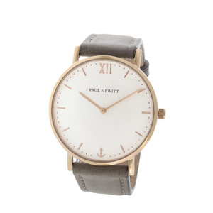 ポールヒューイット Sailor Line 39mm ユニセックス 腕時計 6451712 PHSARSTW13S ホワイト/グレー ホワイト