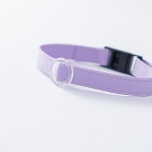 【猫にやさしい布首輪】ラベンダー 軽量3g やわらか 安全 シンプル ペットシッター考案
