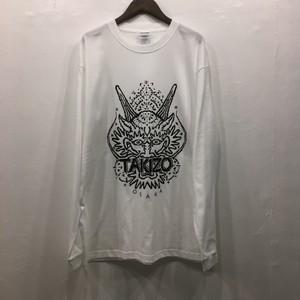 TAKIZO Dot Dragon Long-T-shirt white