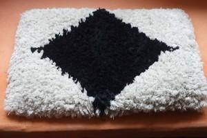 【佐藤さんのノッティング】◆◆手織りの椅子敷き★★【長さ55㎝◆◆】NEW /2020.6.18