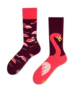 <MANY MORNINGS>靴下 PINK FLAMINGO ※再入荷