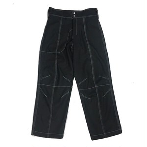 VEJAS BLACK DARTED DENIM TROUSERS