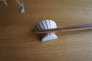 砥部焼/お茶碗型箸置き/赤十草/すこし屋