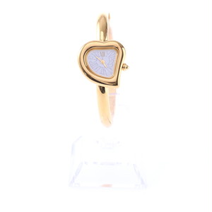 Yves Saint Laurent/イヴサンローラン  ハーティスウォッチ クオーツ 40周年限定品 ゴールド×ホワイト(40026)
