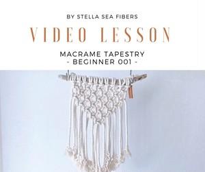 《VIDEO CLASS》マクラメタペストリー - BEGINNER 001 - 動画+PDF付き
