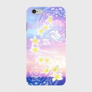 【iPhoneシリーズ】Plumeria Sunset Pink プルメリア・サンセット ピンク ツヤありハード型スマホケース