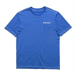 CHRYSTIE NYC / JPN LOGO CONTRAST STITCH T-SHIRT -BLUE-