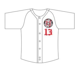 スカルリーパーA-jiベースボールシャツ(ホワイト)