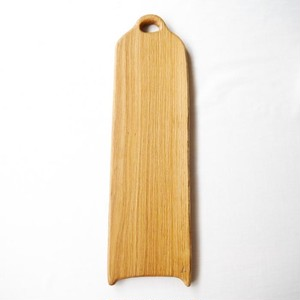 カッティングボード Lロング (ナラの木) エゴマ油仕上げ (48.8×14.3)