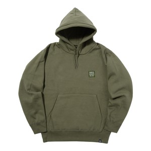 EMBROIDERY LOGO PULL PARKA (OLIVE)[TH8A-024]