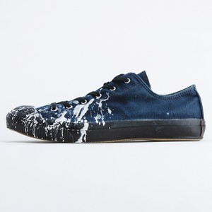 SHELLCAP LOW DROP PAINT-INDIGO×BLACK